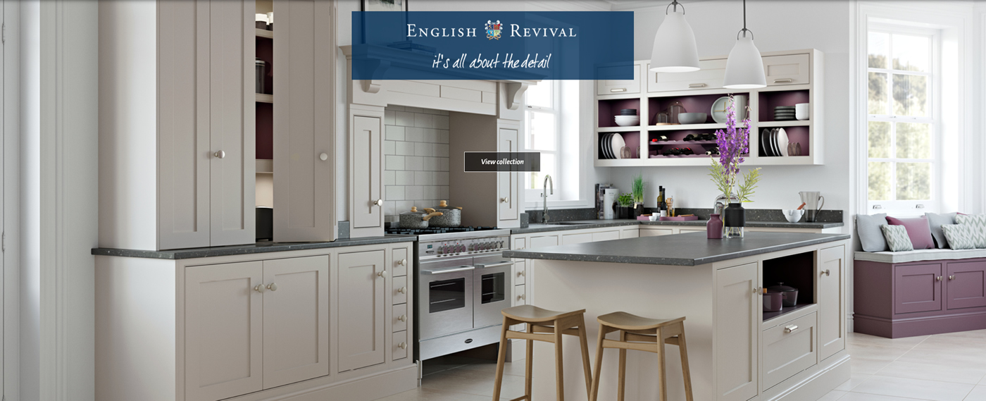 Mereway English Revival Kitchen range